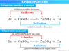 Redox reactions example according to oxidation number and electronic concept
