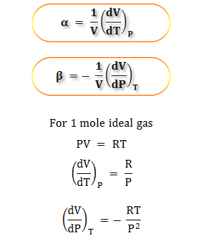 Compare thermal expansion and compressibility of the ideal gaseous molecule