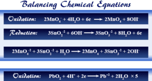 Balancing chemical equations by ion-electron formula and oxidation number balance method in chemistry