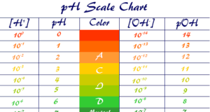pH scale and pOH level chart range Measuring for acidic, alkaline or basic solution in pure water