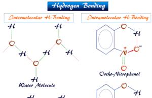 Hydrogen bonding and intermolecular and intramolecular hydrogen bond in water, ice, ortho-nitrophenol molecule