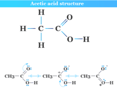 Acetic acid structure, formula and resonance hybrid in organic chemistry