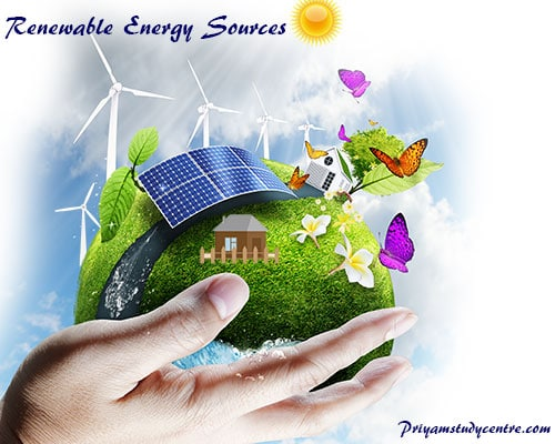 Renewable or alternative energy comes from sources like sunlight, wind, hydroelectric, geothermal power and, biomass