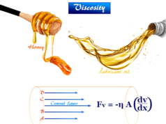 Viscosity is resistance to flowing of fluids like glycerol, ester, oils, water, alcohol, the property define flow of some liquid or gas is slower than other