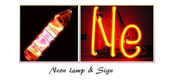 Neon element tube or lamp, sign, uses and properties