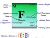 Fluorine element chemical symbol and the periodic table properties