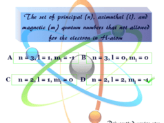 Chemistry quiz 4 in atomic and molecular structure