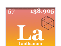 Lanthanum element chemical symbol and periodic table properties