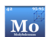 Molybdenum chemical element or transition metal symbol and the periodic table properties