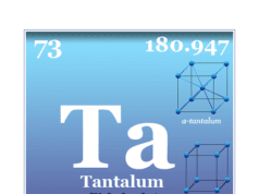 Tantalum chemical element or transition metal symbol, properties, production, facts, uses and position on the periodic table
