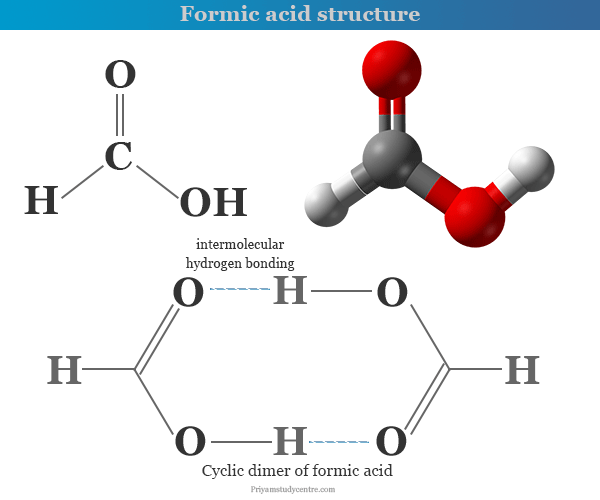 Formic acid formula, chemical properties and structure